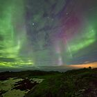 Auroras over the beach by Frank Olsen