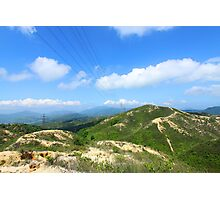 Mountain landscape in Hong Kong Photographic Print