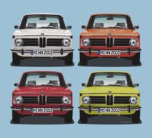 BMW 2002 Neue Klasse - 4 colours by Sharknose