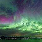 Green &amp; Purple sky by Frank Olsen
