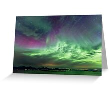 Green & Purple sky Greeting Card