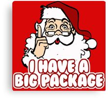 I Have a Big Package - Santa Claus Canvas Print