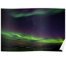 Auroras and Milky Way Poster