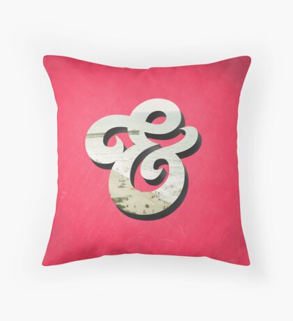 Amper Sand Throw Pillow
