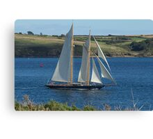 Blue Schooner 02 Canvas Print
