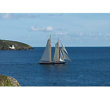 Blue Schooner 04 Photographic Print