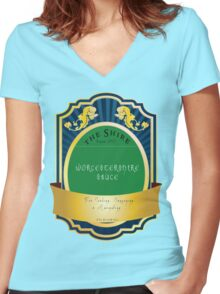 *The Shire-WorcesterShire  Women's Fitted V-Neck T-Shirt
