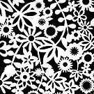 Floral Stencil print by Sweetpea06