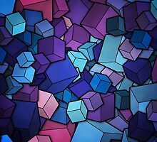 Colorful Cubes 32 by BOBBIEDAUER
