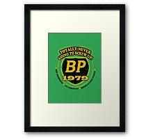 Retro BP Shirt Framed Print