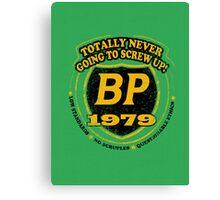 Retro BP Shirt Canvas Print