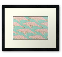 The Chevron Whales Framed Print