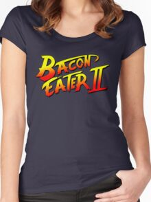 Bacon Eater II  Women's Fitted Scoop T-Shirt