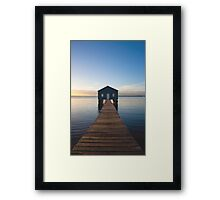 River Boatshed Framed Print