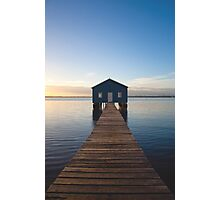 River Boatshed Photographic Print