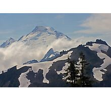 above the clouds beyond the ridge, mt baker, washington, usa Photographic Print