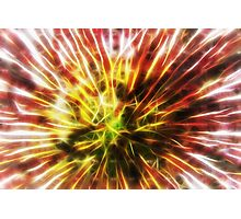 Lightwaves explosion abstract Photographic Print