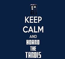 Keep Calm And Board The Tardis Phone case by rachick123