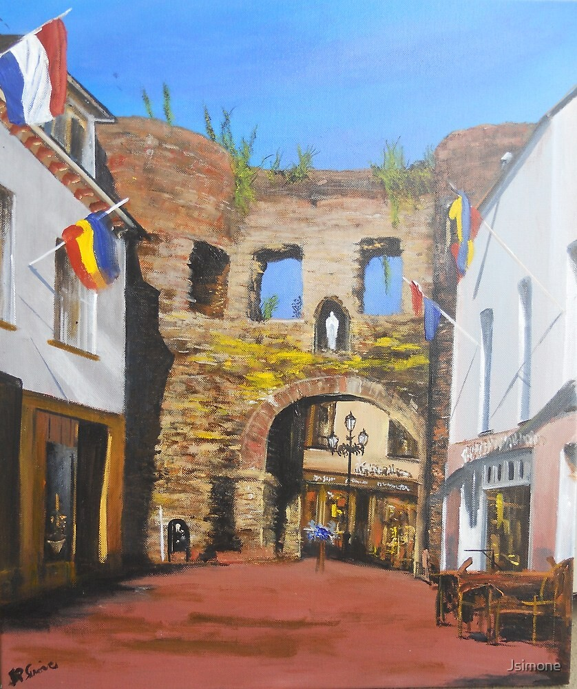 Grendelpoort, Valkenburg Holland C 1300 by Jsimone