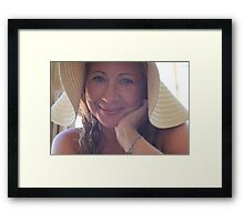 This Smile Was For You Framed Print