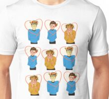 Set of Spock, Jim Kirk, and Bones valentines Unisex T-Shirt