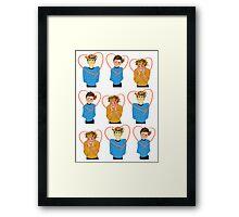 Set of Spock, Jim Kirk, and Bones valentines Framed Print