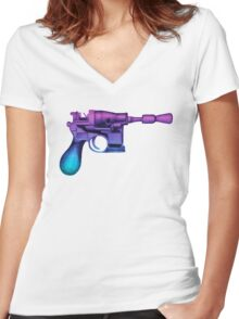 Blaster Women's Fitted V-Neck T-Shirt