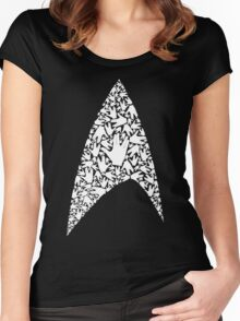 Live long and wear the Starfleet insignia Women's Fitted Scoop T-Shirt