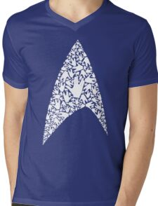 Live long and wear the Starfleet insignia Mens V-Neck T-Shirt