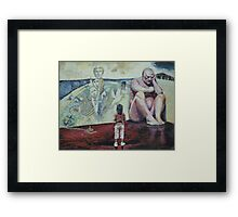 Leaning On The Wall Of Recovery & Hope Framed Print