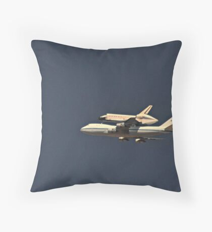 The Endeavour Space Shuttle Throw Pillow