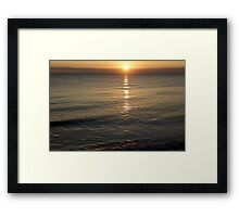 North Sea Sunrise Framed Print