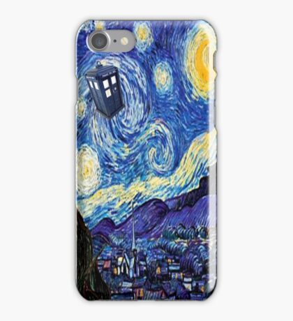 Starry Night Inspiration Doctor Who Tardis Products iPhone Case/Skin