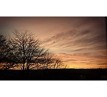 The Mellow Sunset Photographic Print
