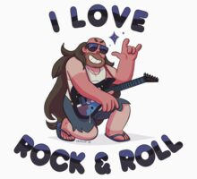 "Greg Universe - Steven Universe ""I LOVE ROCK & ROLL"" Kids Clothes"
