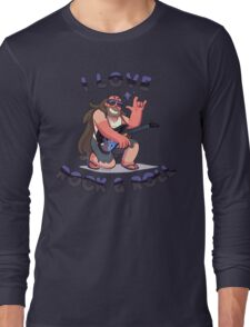 "Greg Universe - Steven Universe ""I LOVE ROCK & ROLL"" Long Sleeve T-Shirt"