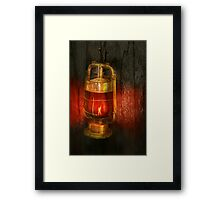 Steampunk - Red light district Framed Print