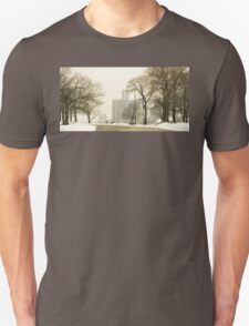 Winter View Of Detroit From Belle Isle T-Shirt