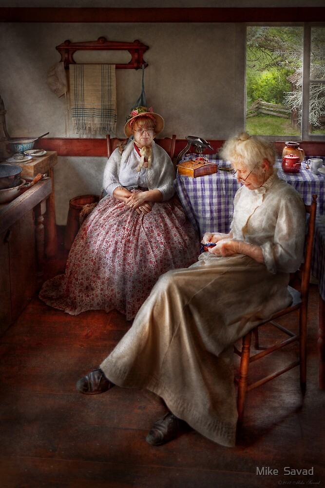 Sewing - I can watch her sew for hours by Mike  Savad