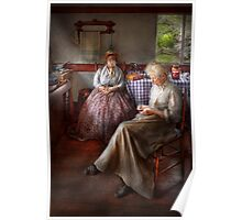 Sewing - I can watch her sew for hours Poster