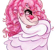 That's me Loving You: Steven Universe Rose Quartz and Steven NO BG by livielightyear