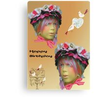 Girls Birthday card Canvas Print