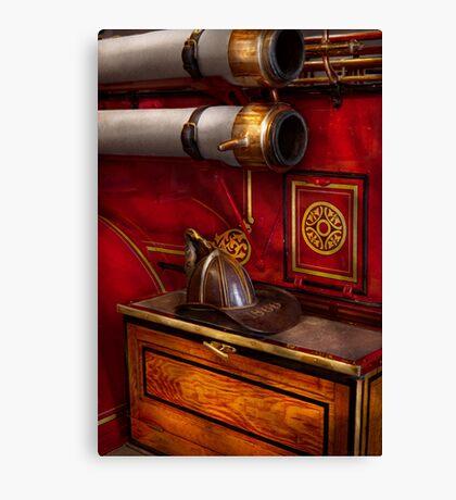 Firemen - An elegant job  Canvas Print
