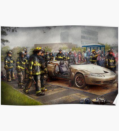 Firemen - The fire demonstration Poster