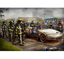 Firemen - The fire demonstration Photographic Print
