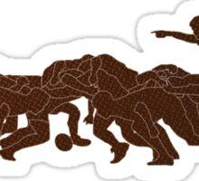 rugby player scrum metal texture Sticker