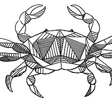 Geometric Cancer Crab by Casandra Merson