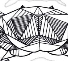 Geometric Cancer Crab Sticker