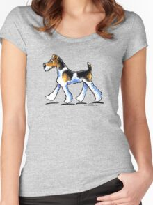 Wire Fox Terrier Trot Women's Fitted Scoop T-Shirt