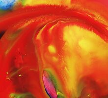 Vibrant Sensation Vivid Abstract I by Irina Sztukowski